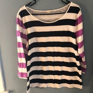 J. Crew Long Sleeve Striped Shirt